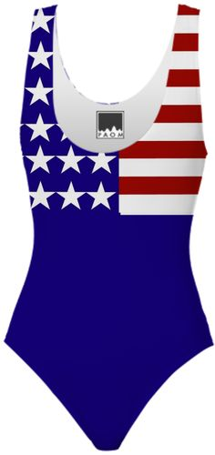 American Flag Stars and Stripes Swimsuit  at #PrintAllOverMe by #gravityx9 #patriotic #redwhiteandblue #4thofjuly