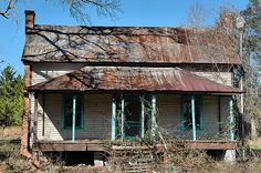 haint blue around the doors and windows Ghosts of the Ogeechee by Brian Brown (Dirt Road Cowboy), via Flickr