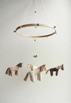 baby mobile  nursery mobile  horse mobile pony mobile by Patricija