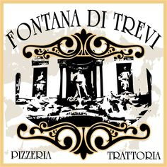 Logotipo Fontana di Trevi Pizzeria.  Diseño Triloby estudio