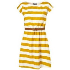 Yellow stripes. Perfect casual summer dress.