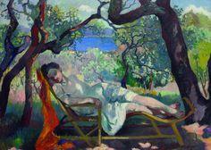 Henri-Charles Manguin - Siesta in the Chaise Longue (1905)