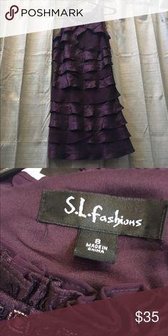 Purple dress size 8 by S.L. fashions A lot of detail and bling sweet purple dress size 8 by S.L. Fashions S.L. Fashions  Dresses Midi