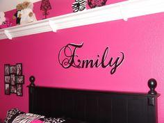 Pink And Black Zebra Teen Girls Bedroom Part 74