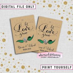 Let love grow wild tag printable seed wedding favor tag succulent spread the love jam favor tags swirly ii printable file only jam jelly wedding favor tags solutioingenieria Choice Image