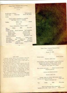Vintage-Menu-pair-CAMP-CURRY-YOSEMITE-NATIONAL-PARK-1939-Breakfast-Dinner