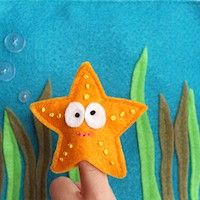 Free Kids Crafts - Ocean Creatures Finger Puppets