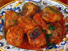 Turkey Meatballs (Polpettone di Tachino) recipe from Mario Batali via Food Network