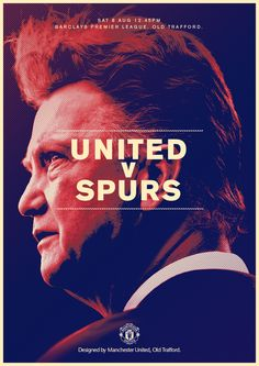 Match poster: Manchester United vs Tottenham Hotspur, 8 August 2015. Designed by @manutd
