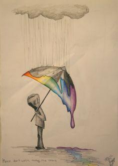 La lluvia del arco iris negro                       <3