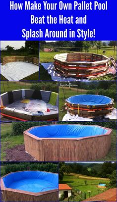 Does the summer heat have you wishing for a pool? You can DIY one the frugal way with pallets! Check out these tips on How Make Your Own Pallet Pool – Beat the Heat and Splash Around in Style! Diy Projects Cans, Diy Pallet Projects, Outdoor Projects, Pallet Ideas, Diy Summer Projects, Outdoor Decor, Outdoor Furniture, Piscina Pallet, Piscina Diy