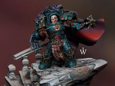The Internet's largest gallery of painted miniatures, with a large repository of how-to articles on miniature painting Warhammer Paint, Warhammer 30k, 28mm Miniatures, Fantasy Miniatures, Military Art, Military History, Sons Of Horus, The Horus Heresy, Space Wolves