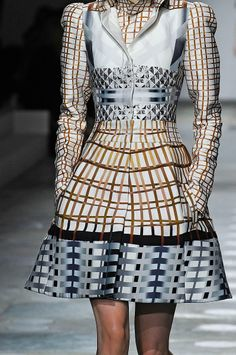 Vivid digital print dress with high impact pattern; printed fashion // Mary Katrantzou