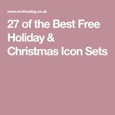 27 of the Best Free Holiday & Christmas Icon Sets
