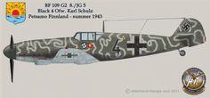 Bf109 G2 8./JG 5 - Schwarze 4+ - Ofw. Karl Schultz - Petsamo, Finnland, Estate 1943