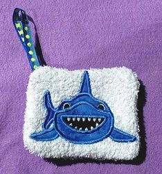 Soap Pocket Shark - 2 Sizes! | What's New | Machine Embroidery Designs | SWAKembroidery.com Band to Bow