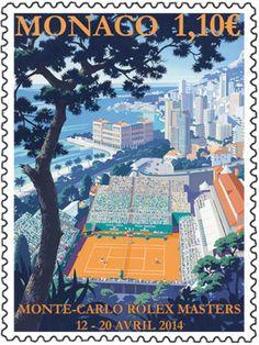 Nuevo sello del torneo de tenis Montecarlo.