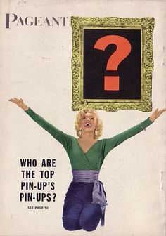 """Pageant - April 1954, magazine from USA. Back cover publicity photo of Marilyn Monroe for """"Gentlemen Prefer Blondes"""" by John Florea, 1953."""