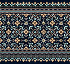 Illustration of Vector illustration of ukrainian folk seamless pattern ornament. vector art, clipart and stock vectors. Hungarian Embroidery, Folk Embroidery, Embroidery Stitches, Embroidery Patterns, Cross Stitch Borders, Cross Stitch Designs, Cross Stitch Patterns, Bordado Popular, Embroidery Online