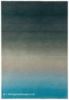 Verde azulado brillante azul océano Cálido Shaggy Pelo Alfombra Salón Dormitorio Alfombras de piso