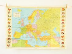 Vintage Europe map, 3 feet 9 in Map of Europe, Stanford's General Map of Europe and Mediterranean