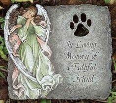 Josephs-Studio-ROMAN-9-Pet-Memorial-Angel-Heart-Faithful-Friend-Stone-NIB