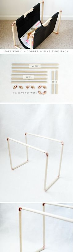 Copper Pipe Magazine Rack Fall For DIY