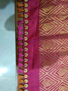 Saree Tassels Designs, Saree Kuchu Designs, Blouse Designs, Hand Work Embroidery, Embroidery Designs, Shiva, Sarees, Needlepoint, Lord Shiva