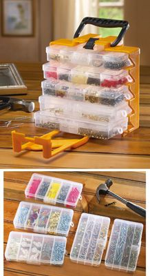 1001pc Household Kit - picture hangers, thumbtacks, nails, hooks, and more... good to always have on hand - all in one handy case!