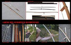 L'arco, prima dell'introduzione delle armi da fuoco, era l'arma per eccellenza sia per la caccia che per la guerra. I reperti qui esposti sono principalmente dei Dena'ina, i modelli e i materiali variavano da zona a zona (semplice, rinforzato con tendini,…).