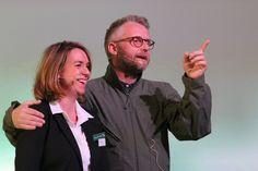 Mads Vangsø og Pernille Wendel Mehl (Adm. direktør i Danske Lotteri Spil). Taget for JCP Production og Thor Production til Danske Spil Take Off 2016