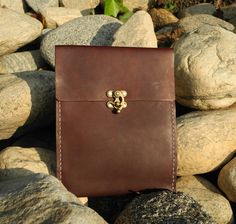 Premium Leather iPad Mini Case - Bordeaux. $60.00, via Etsy.