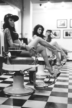 Just so everyone knows, we don't have chicks like this hanging out at our barbershop. lol
