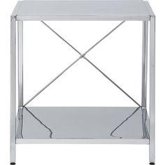 harvey chrome nightstand in bedroom furniture | CB2