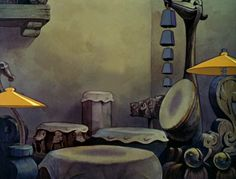 """Snow White and the Seven Dwarves""—Dopey's drums (©Walt Disney) Panning Shot, White Friday, Walt Disney Pictures, Seven Dwarfs, Animation Background, Environment Design, Disney Films, Animation Film, Disney Magic"