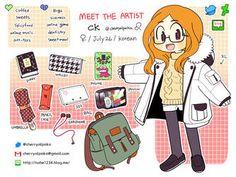 Meet the artist 2017 by CherryAlpaka on DeviantArt Character Inspiration, Character Art, Character Design, Artist Bag, Human Art, Anatomy Reference, Meet The Artist, Illustration Art, Illustrations