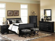 Adelaide Black Bedroom Set Furtado Furniture - Is your house feeling a tiny dated? Whether you want to overhaul your entire home taking in. Black Bedroom Furniture, Home Furniture, Bedroom Black, Furniture Buyers, Furniture Online, Discount Furniture, Modern Bedroom, Furniture Ideas, Primitive Furniture
