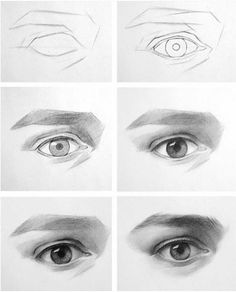 drawing eyes step by step ~ drawing eyes ` drawing eyes step by step ` drawing eyes cartoon ` drawing eyes anime ` drawing eyes realistic ` drawing eyes easy ` drawing eyes step by step easy ` drawing eyes step by step realistic Realistic Eye Drawing, Drawing Eyes, Anatomy Drawing, Painting & Drawing, Painting Tips, Drawing Skills, Drawing Lessons, Drawing Techniques, Drawing Reference