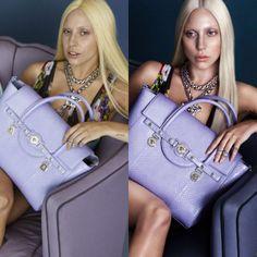 Lady Gaga para Versace. Tanto intentar escandalizar con sus looks y sale sin maquillar y la gente se sorprende más.