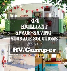 44 Cheap And Easy Ways To Organize Your RV/Camper -An RV is the ultimate tiny-living space. Meticulous organization will make a carefree life...