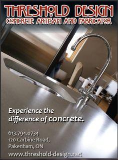 Home Show Add Concrete Design, Fireplace Surrounds, Sink, Artisan, Home Decor, Sink Tops, Interior Design, Home Interior Design, Sinks
