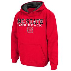 NC State Wolfpack Stadium Athletic Youth Stack II Hoodie - Red - $24.99 https://www.fanprint.com/licenses/akron-zips?ref=5750