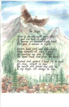 Eagle Scout print in watercolor with calligraphy by Julieartdreams, $14.95