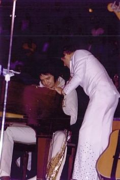 "Elvis, Charlie Hodge (Elvis always called him ""Cholly"") - Binghampton 5-27-77"