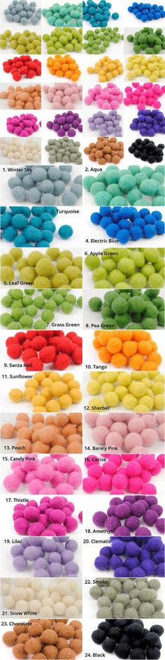 Holiday 160716: Choose Colors Pom Pom Felt Balls 100% Wool 2Cm 20 Mm Beads Craft Diy Supplies -> BUY IT NOW ONLY: $81 on eBay!