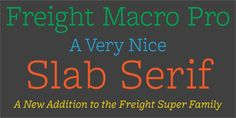 Freight Macro Pro™ font download