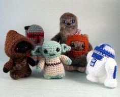 PDFs of Star Wars Mini Amigurumi Patterns - Pick any six. $17.00, via Etsy.