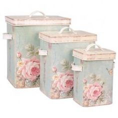 Crafts ❀⊱Boxes, Tins, Baskets & Bags⊰❀ Beautiful tins