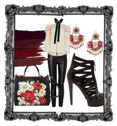 """Leather leggings"" by francisca-cienfuegos on Polyvore featuring moda, Tamara Mellon, Dolce&Gabbana, Gucci, Serge Lutens y Proenza Schouler"