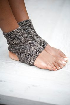 Yoga Socks, Ankle Socks, Knit Yoga Socks, Pedicure Socks, Knit Slipper Socks, Womens Slippers, Toeless Socks, Yoga Spats, Yoga Accessories by 12LittleThings on Etsy https://www.etsy.com/listing/164041801/yoga-socks-ankle-socks-knit-yoga-socks